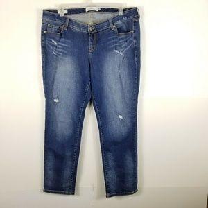 Torrid Women Boyfriend Jeans Distressed